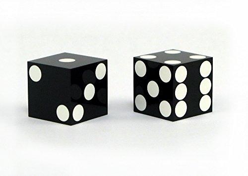 """5/8"""" Precision Razor Edge Casino Dice with inlaid spots"""