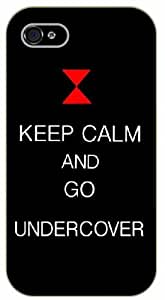 iPhone 5 / 5s Keep Calm and go undercover - black plastic case / Keep Calm, Motivation and Inspiration