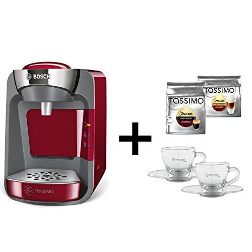 Bosch Tassimo SUNY + 2 x T Discos + WMF vasos rojo: Amazon.es: Hogar