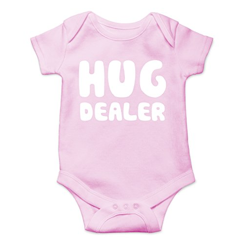 CBTWear Hug Dealer Newborn Gangsta Infant Humorous Babies Funny Cute Novelty Infant One-Piece Baby Bodysuit (12 Months, Pink) for $<!--$9.85-->