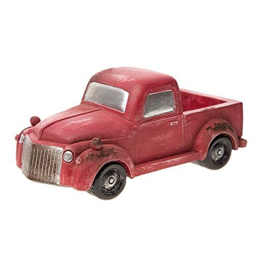 Darice Mini Accessory: Old-Fashioned Red Pickup Truck Fairy Garden ()