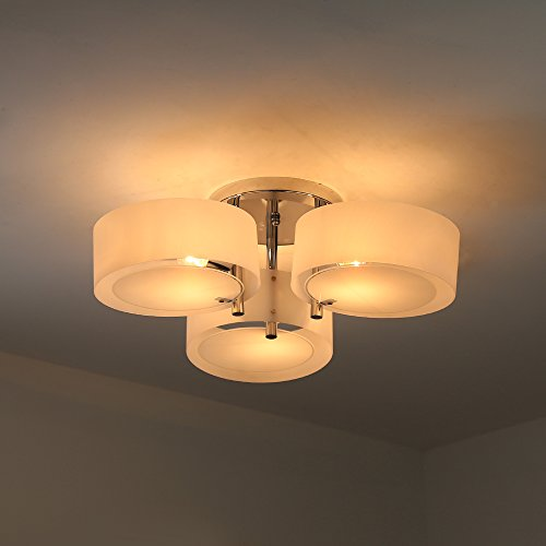 Natsen ceiling lights metal semi flush mount ceiling light for Living room ceiling light fixture
