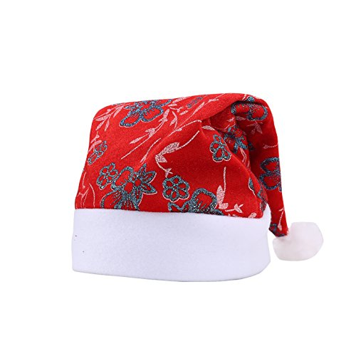 Halloween Hat Ideas ([Life & Living] Santa Claus Christmas Hat, great for festivals, holdiays, Halloween, Chirstmas, X-mas, theme party, costume parties, drama and photo shoot (Blue Flower))
