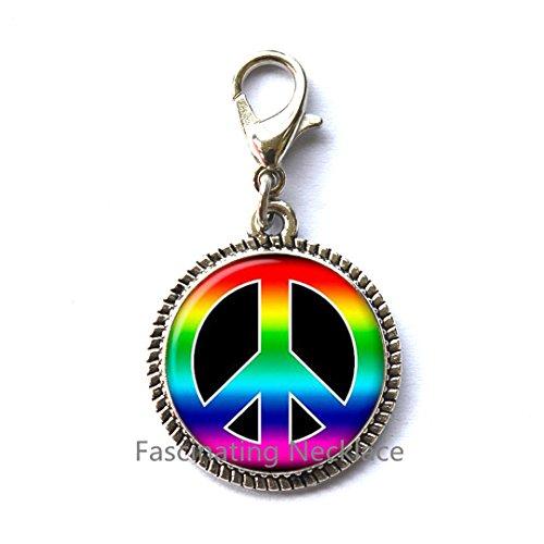 Fashion Zipper Pull,Hippie Zipper Pull, Hippie Charming Zipper Pull, Hippie jewelry, Peace sign Zipper Pull, peace jewelry, peace Charming Zipper Pull, men