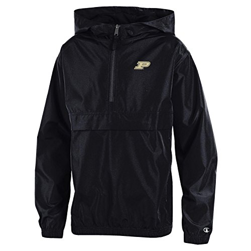 (Champion NCAA Purdue Boilermakers Youth Boys Packable Jacket, Large,)