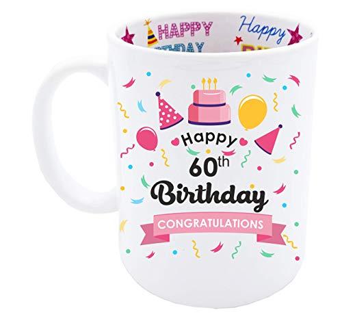 (60th Birthday Gift for Women Happy Birthday Coffee Mug)