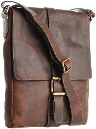 Amazon.com: FRYE Men's Logan Small Messenger Bag, Dark Brown, One ...