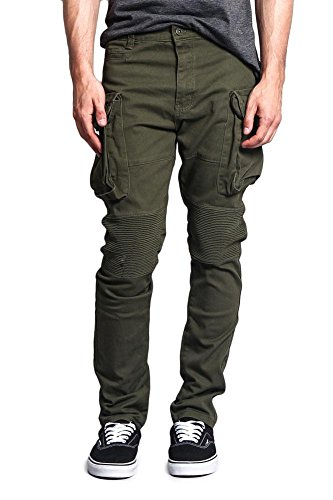 G-Style USA Men's Big Cargo Pocket Pants DL1065 - Olive - 34/30 - H8D