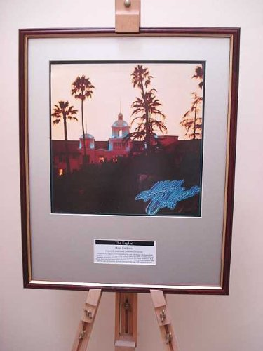 THE EAGLES HOTEL CALIFORNIA ORIGINAL FRAMED ALBUM COVER ARTWORK by FCS