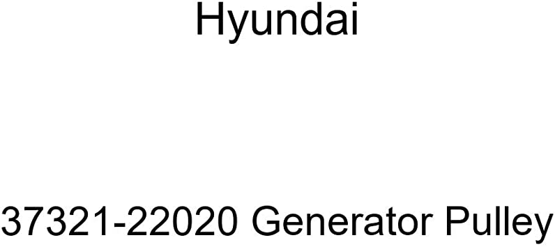 Genuine Hyundai 37321-22020 Generator Pulley