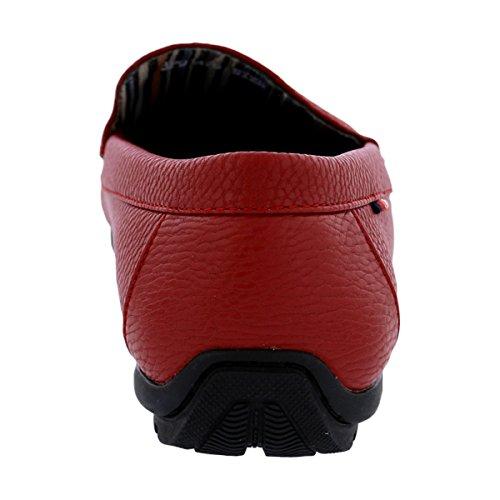 Beverly Hills Polo Club - Mens Moc Driving Shoes - Red ixq3LRkNyU