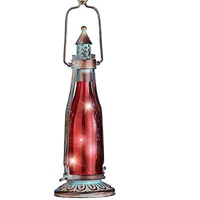 Solar Bottle Lanterns, Metal