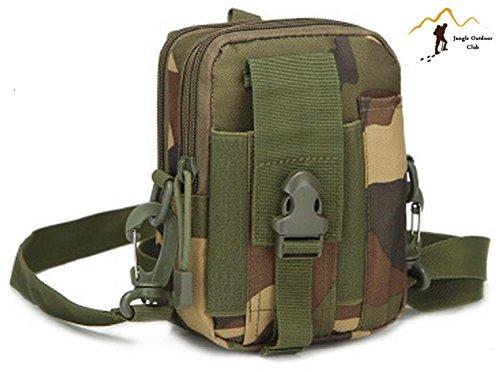 Jungle Oxford Tupgrade del pacchetto tracolla messenger a tracolla molle tattico tasche Wild borsa zaino da escursionismo arrampicata ciclismo BBQ runner bag, Jungle camouflage