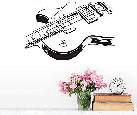 Guitarra Cuerda Silueta Apliques Vinilo Etiqueta de la pared Arte ...
