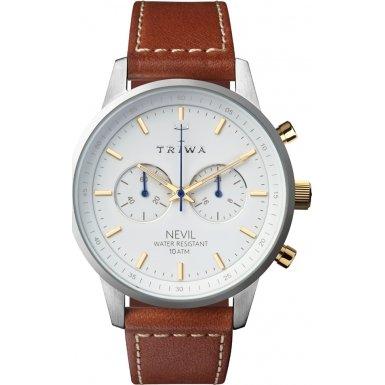 Triwa Snow Nevil Watch | Brown Sewn Classic