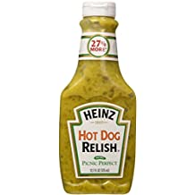 Heinz Hot Dog Relish, 12.7-Ounce Squeeze Bottles (Pack of 3)