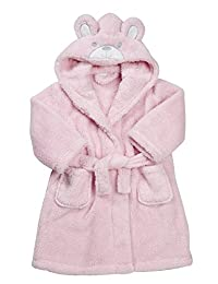 MINIKIDZ Toddler Girls Snuggle Fleece Robe (Ages 2-6) Hooded Bunny Gown