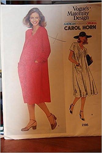 596b9b9bb Vintage Vogue's Maternity Design Pattern 2395 - Carol Horn - Misses' Maternity  Dress Paperback – 1968