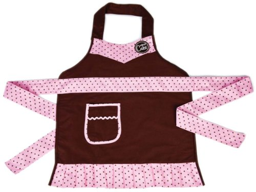 : Provo Craft Cricut Cake Apron: Child Size Pink & Brown