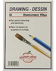 El Maayergy Colors art Sketchbook a5 Size, 20 sheets - 150 Gm