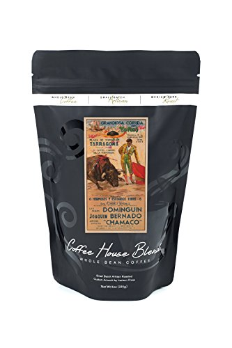 Grandiosa Corrida de Toros - Dominguin - Bernado - Chamaco (artist: Reus) Spain c. 1957 - Vintage Advertisement (8oz Whole Bean Small Batch Artisan Coffee - Bold & Strong Medium Dark Roast w/ Artwork) by Lantern Press