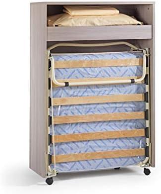 Maconi - Mueble cama Link 539 de madera de 85 cm - Acabado: Olmo claro