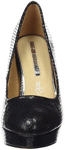 MTNG Originals 61309 - Zapatos de tacón para mujer Negro (SERPIENTE NEGRO)