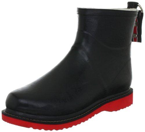 Black Kurzer Rot 0130 Rubber Schwarz Womens Boots ILSE JACOBSEN Gummistiefel nw7q6xYH