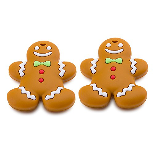 Toddler Gingerbread - Corewill Baby Teething Toy Teether Gingerbread for Babies and Toddlers BPA Free (2 Packs)