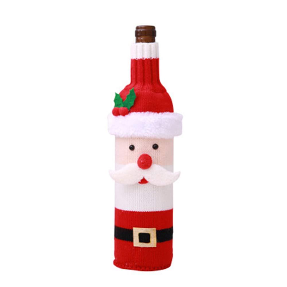 Gysad Natale maglione con bottiglia di vino sacchetti regalo Natale decorazione della tavola 28x12cm Santa