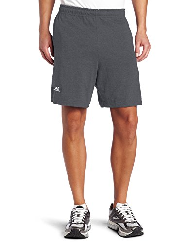 Russell Athletic Men's Cotton Baseline Short with Pockets, Stealth , XL