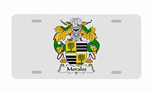 Moral Design - Carpe Diem Designs Morales Coat of Arms/Morales Family Crest License/Vanity Plate - Made in The U.S.A