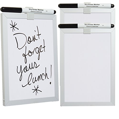 Foray  3 Pack  5X7 Magnetic Dry Erase Board Small   Dry Erase Markers White Board For School Home Office