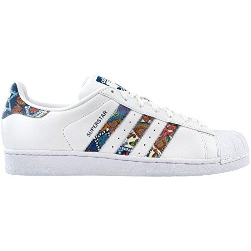 adidas Originals Women's Shoes Superstar W Sneaker, WhiteIce PinkMetallic Gold, (8.5 Medium US)