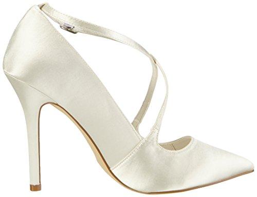 Avant Pieds Blanc Wedding Rosario à Couvert du Chaussures Ivory Menbur Femme Talons Elfenbein waHqR6wF