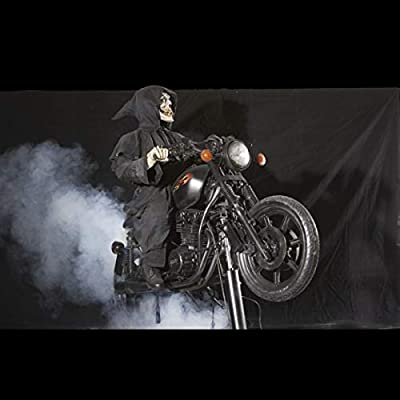 BACK FROM THE GRAVE Hell Rider Animatronic Haunted House Halloween Horror Prop
