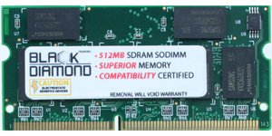 (256MB Memory RAM for Dell Latitude C500, C600, C800, CPt S450ST, CPt V466GT 144pin PC100 100MHz SDRAM SO-DIMM Black Diamond Memory Module Upgrade)