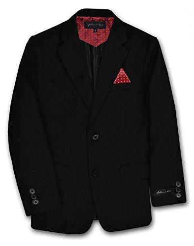 Dress Up Boys' Blazer Jacket #JL30 (10, Black/Red)]()