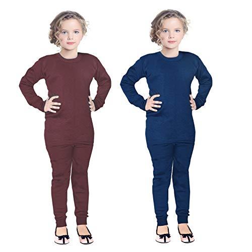 FAIQA Thermal Wear Top Pajama Set for Boys Girls Kids Baby (Pack of 2)