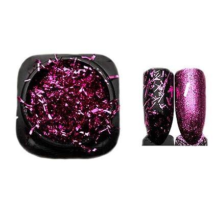 Buy Veena 1 Box Aluminum Foil Wire Flakes Nail Art Glitters Colorful