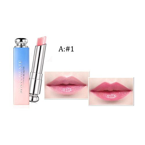 ZTY66 3 Colors Lipstick, Women Girls Beauty Bright Crystal Jelly Lipstick Magic Temperature Change Color Lip Makeup (Style High Gloss Spray Gel)