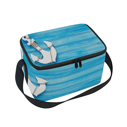 Wood Anchor Bag bianco scuola Lunch donne Use7 Picnic Insulated bambini ITUAtO