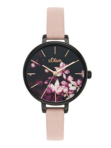 s.Oliver Time Womens Analogue Quartz Watch with PU Strap SO-3589-LQ