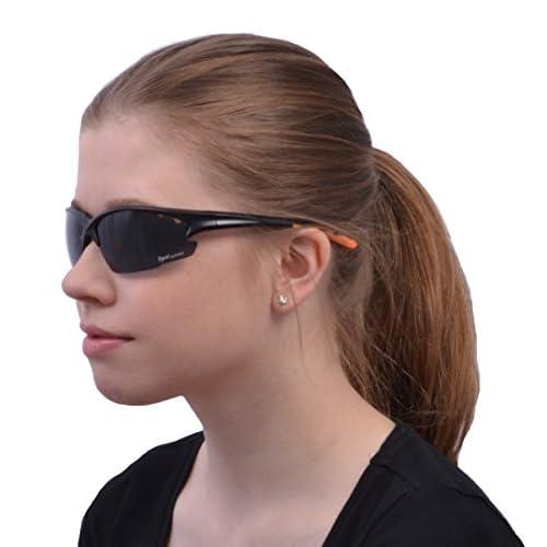 0dfc1f7a36 Rapid Eyewear noir LUNETTE SOLAIRES DE CYCLISME Polarisée, pour hommes et  femmes. Verres interchangeables