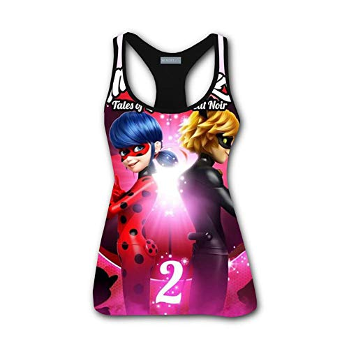 Love Ladybug 3D Printed Women Racerback Tank