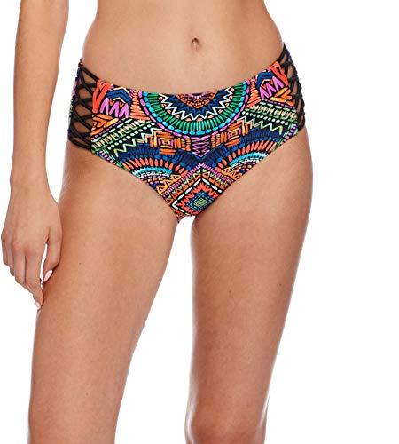Body Glove Women's Retro High Rise Bikini Bottom Swimsuit, Karma Print, Small