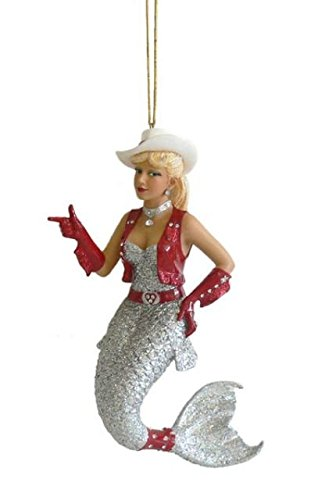 December Diamonds Rhinestone Cowgirl Mermaid Christmas Ornament Decoration
