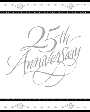 - Stafford Silver 25th Anniversary Invitations 25 Per Pack