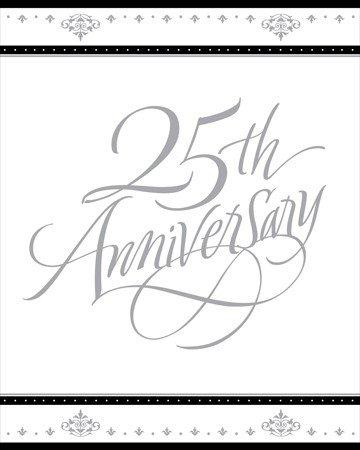 Stafford Silver 25th Anniversary Invitations 25 Per Pack ()