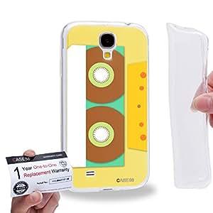 Case88 [Samsung Galaxy S4] Gel TPU Carcasa/Funda & Tarjeta de garantía - Art Fashion Compact Cassette Compact Cassette 2617